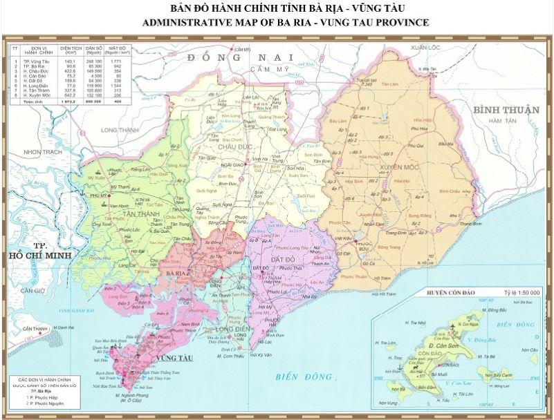 Đơn vị hành chính tỉnh Bà Rịa Vũng Tàu